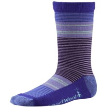 SmartWool Thinscape Stripe Socks - Merino Wool, Crew (For Little and Big Girls) in Polar Purple - Closeouts