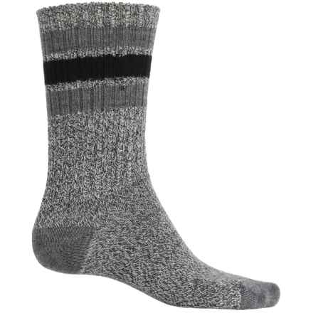 SmartWool Thunder Creek Socks - Merino Wool, Crew (For Men) in Charcoal Heather - Closeouts