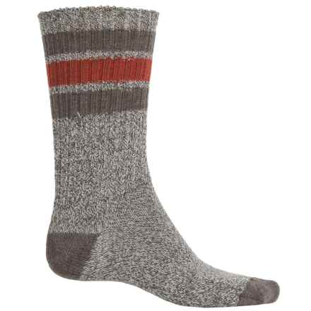 SmartWool Thunder Creek Socks - Merino Wool, Crew (For Men) in Chestnut Heather/Cinnamon - Closeouts