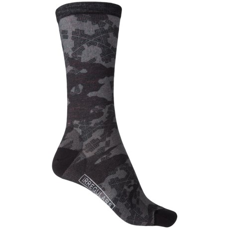SmartWool Tire Tracks Socks - Merino Wool, Crew (For Men) in Medium Gray