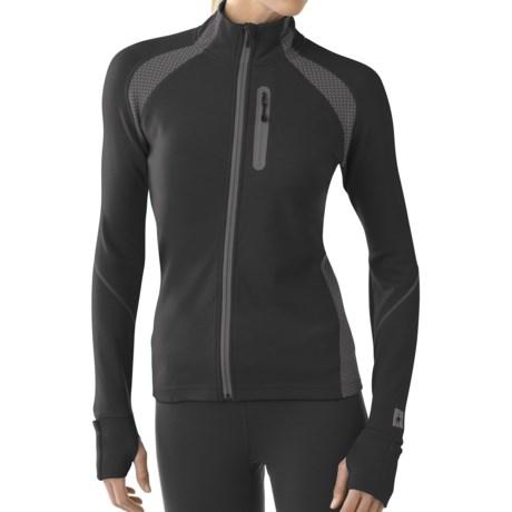 SmartWool TML Light Full-Zip Shirt - Merino Wool, Long Sleeve (For Women) in Black
