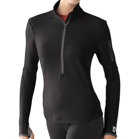 SmartWool TML Mid Half-Zip Shirt - Merino Wool, Midweight, Long Sleeve (For Women) in Black