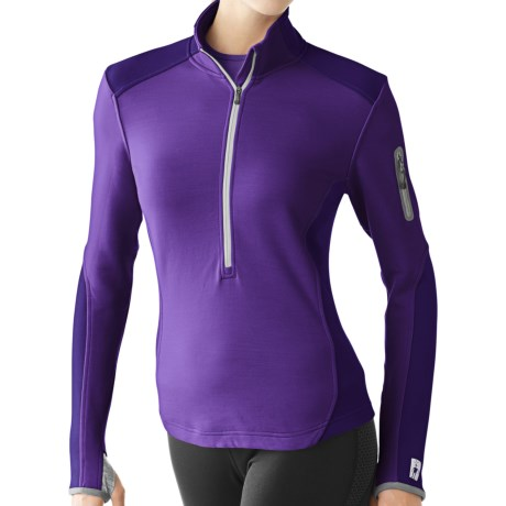 photo: Smartwool Women's TML Mid Half-Zip long sleeve performance top