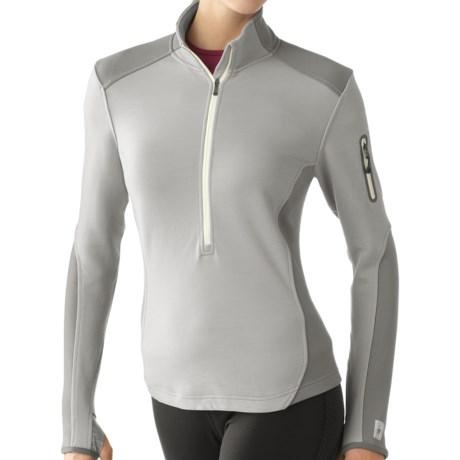 SmartWool TML Mid Half-Zip Shirt - Merino Wool, Midweight, Long Sleeve (For Women) in Nickel