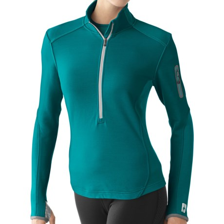 SmartWool TML Mid Half-Zip Shirt - Merino Wool, Midweight, Long Sleeve (For Women) in Teal
