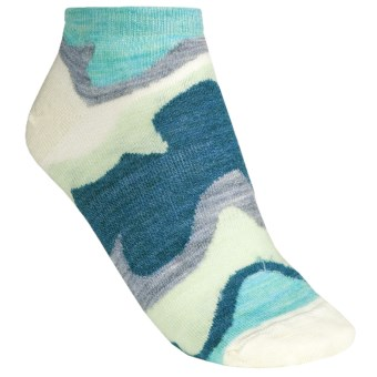 SmartWool Tranquil Sands Socks - Merino Wool, Micro Mini (For Women) in Mineral Heather