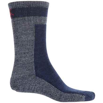 SmartWool Traverser Socks - Merino Wool, Crew (For Men) in Deep Navy Heather - 2nds