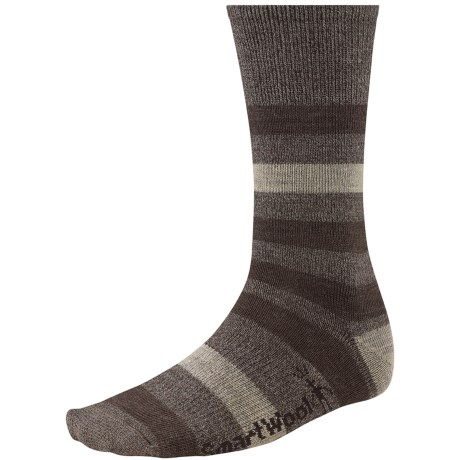 SmartWool Trekker Crew Socks - Merino Wool (For Men and Women) in Chestnut Marl