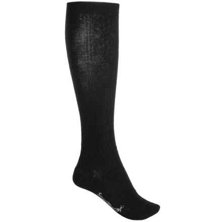 SmartWool Trellis Knee-High Socks - Merino Wool, Over the Calf (For Women) in Black - 2nds