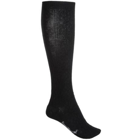 SmartWool Trellis Knee-High Socks - Merino Wool, Over the Calf (For Women) in Black