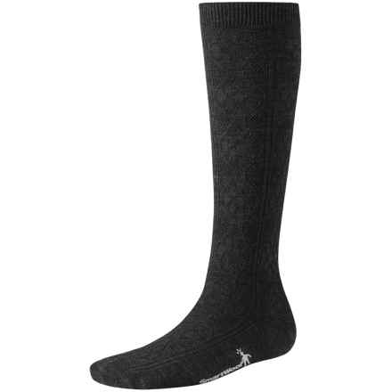 SmartWool Trellis Knee-High Socks - Merino Wool, Over the Calf (For Women) in Charcoal Heather - 2nds