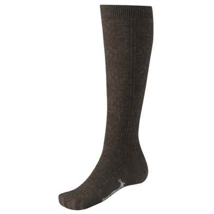 SmartWool Trellis Knee-High Socks - Merino Wool, Over the Calf (For Women) in Chestnut Heather - 2nds