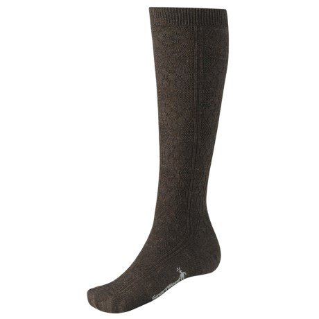 SmartWool Trellis Knee-High Socks - Merino Wool, Over-the-Calf (For Women) in Chestnut Heather