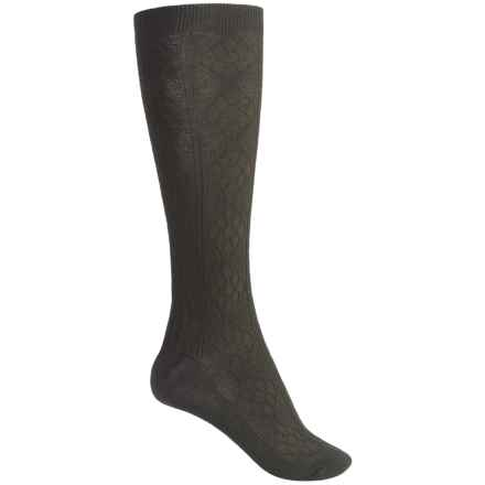 SmartWool Trellis Knee-High Socks - Merino Wool, Over the Calf (For Women) in Forest - 2nds