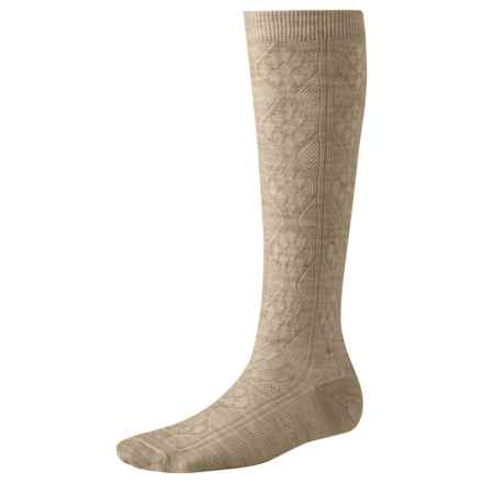 SmartWool Trellis Knee-High Socks - Merino Wool, Over the Calf (For Women) in Oatmeal Heather - 2nds