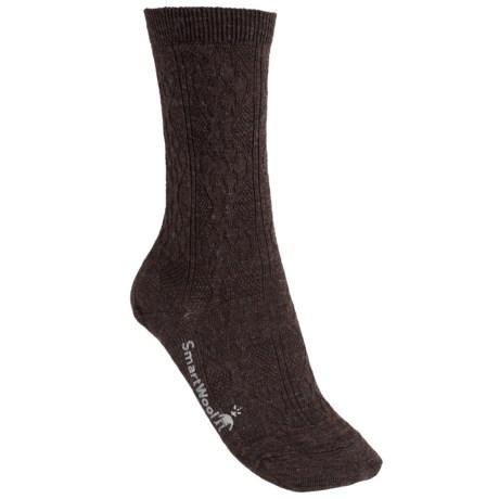 SmartWool Trellis Socks - Merino Wool, Crew (For Women) in Chestnut Heather