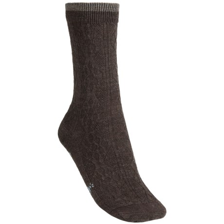 SmartWool Trellis Socks - Merino Wool, Crew (For Women) in Chestnut/Taupe