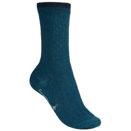 SmartWool Trellis Socks - Merino Wool, Crew (For Women) in Deep Sea/Navy