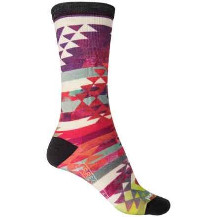 SmartWool Triangle Print Socks - Merino Wool, Crew (For Women) in Multi - 2nds