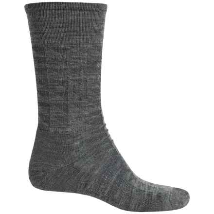 SmartWool Triangulate Socks - Merino Wool, Crew (For Men) in Medium Gray - Closeouts