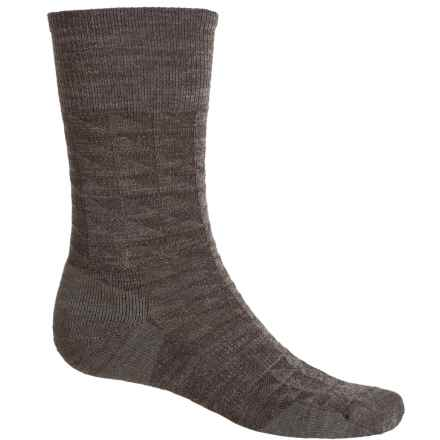 SmartWool Triangulate Socks - Merino Wool, Crew (For Men) in Taupe - Closeouts