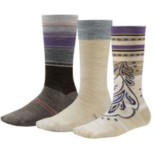 SmartWool Trio 1 Socks - 3-Pack, Merino Wool, Crew (For Women) in Natural Heather - Closeouts
