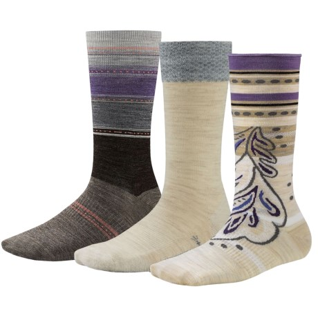 SmartWool Trio 1 Socks 3 Pack, Merino Wool, Crew (For Women)