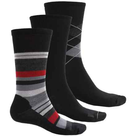 SmartWool Trio 2 Socks - 3-Pack, Merino Wool, Crew (For Men and Women) in Black - Closeouts