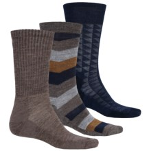 SmartWool Trio 2 Socks - 3-Pack, Merino Wool, Crew (For Men) in Taupe - Closeouts