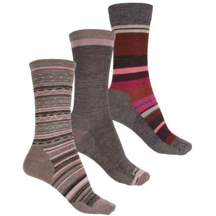 SmartWool Trio 4 Socks - 3-Pack, Merino Wool, Crew (For Women) in Saturnsphere/Jitterbug/Ethno Graphic - Closeouts