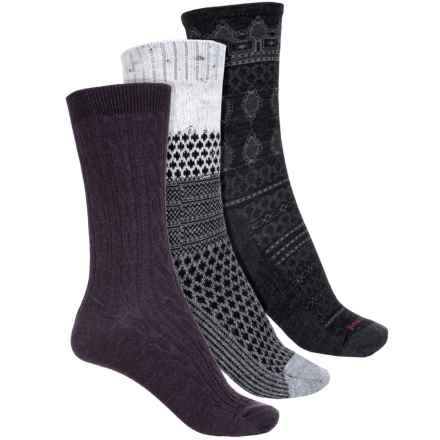 SmartWool Trio Socks - 3-Pack, Merino Wool, Crew (For Women) in Multi - Closeouts