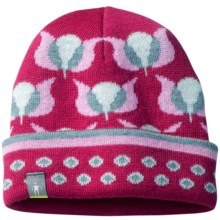 SmartWool Tulip Beanie Hat - Merino Wool (For Infants and Toddler Girls) in Berry Heather - 2nds
