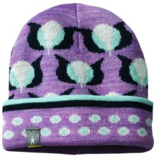 SmartWool Tulip Beanie Hat - Merino Wool (For Infants and Toddler Girls) in Lilac Heather - 2nds