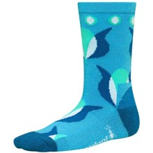 SmartWool Tulip Crew Socks - Merino Wool (For Girls) in Horizon Blue - 2nds