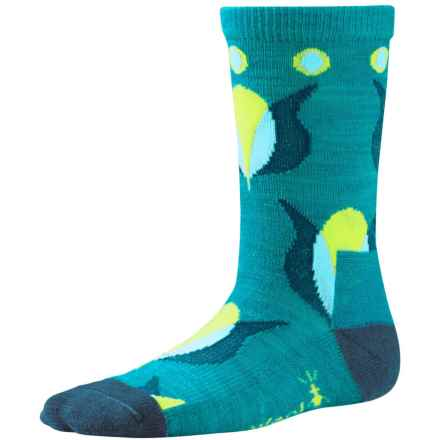 SmartWool Tulip Socks - Merino Wool, Crew (For Girls) in Capri Heather - 2nds