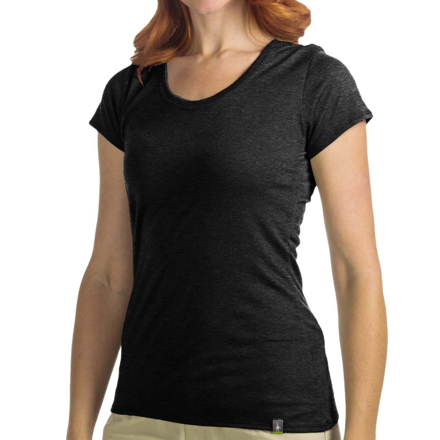 Smartwool u neck t shirt merino wool short sleeve for for Merino wool shirt womens