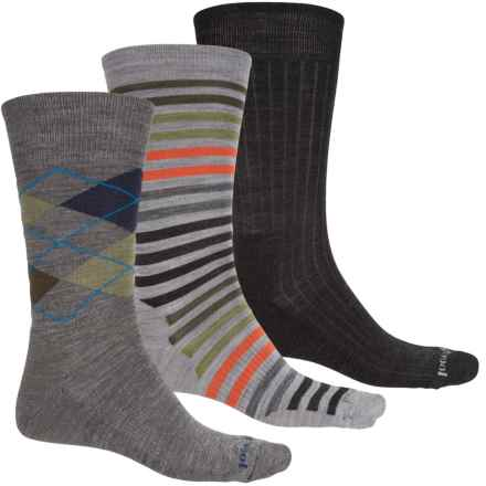 SmartWool Ultra Comfy Trio 1 Socks - Merino Wool, Crew (For Men) in Grey Stripe/Black/Grey Argyle - Closeouts