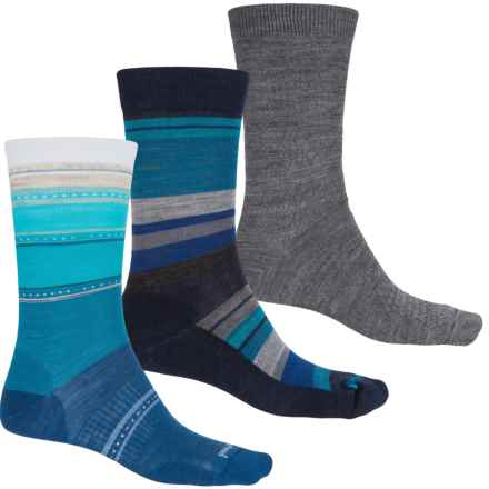 SmartWool Ultra Comfy Trio 3 Socks - Merino Wool, Crew (For Women) in Sulawesi/Textured/Saturnsphere - Closeouts