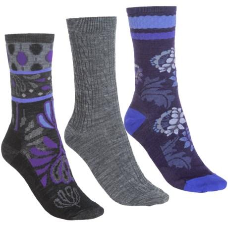 SmartWool Ultra Comfy Trio Gift Pack - Merino Wool, 3-Pack (For Women) in Grey/Purple/Black