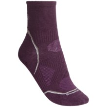 SmartWool Ultralight Mini Sport Socks - Merino Wool, Quarter-Crew (For Women) in Deep Purple - Closeouts
