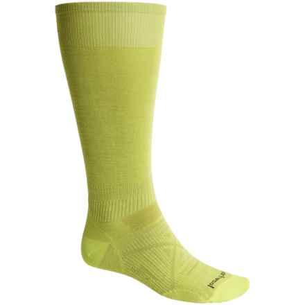 SmartWool Ultralight PhD Ski Socks - Merino Wool, Over the Calf (For Men and Women) in Smartwool Green - 2nds