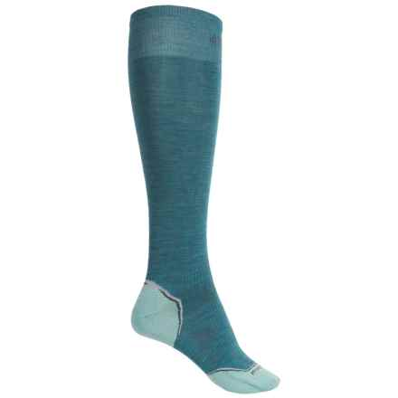 SmartWool Ultralight PhD Ski Socks - Merino Wool, Over the Calf (For Women) in Agean - Closeouts