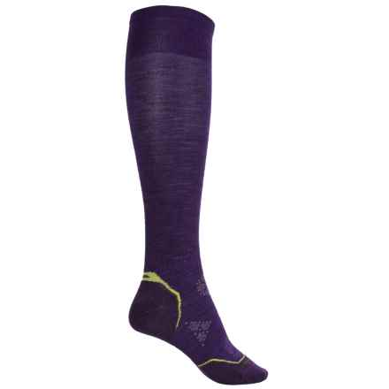 SmartWool Ultralight PhD Ski Socks - Merino Wool, Over the Calf (For Women) in Imperial Purple - Closeouts