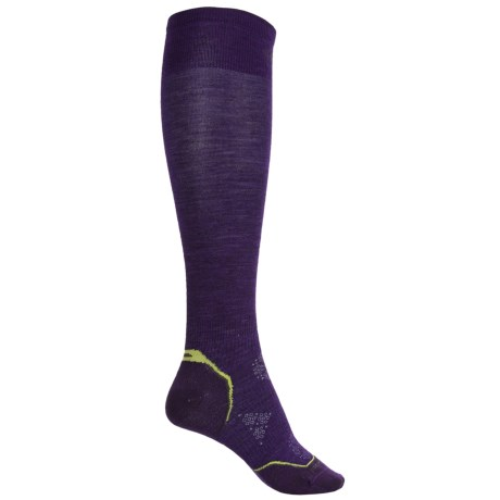 SmartWool Ultralight PhD Ski Socks - Merino Wool, Over the Calf (For Women) in Imperial Purple