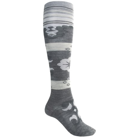 SmartWool Verdancy Socks - Merino Wool, Over-the-Calf (For Women) in Medium Grey Heather
