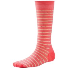 SmartWool Vista View Socks - Merino Wool, Mid Calf (For Women) in Bright Coral - Closeouts