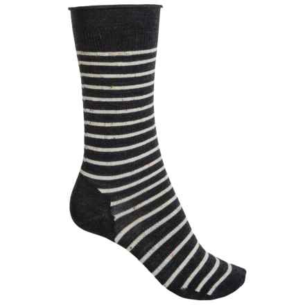 SmartWool Vista View Socks - Merino Wool, Mid Calf (For Women) in Charcoal Heather - Closeouts