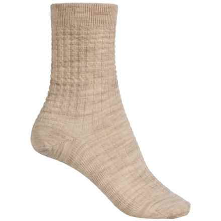 SmartWool Waffle Socks - Merino Wool, Crew (For Women) in Natural Heather - Closeouts