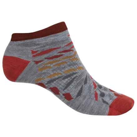 SmartWool Watercolor Washes Socks - Merino Wool, Ankle (For Women) in Light Gray Heather - Closeouts