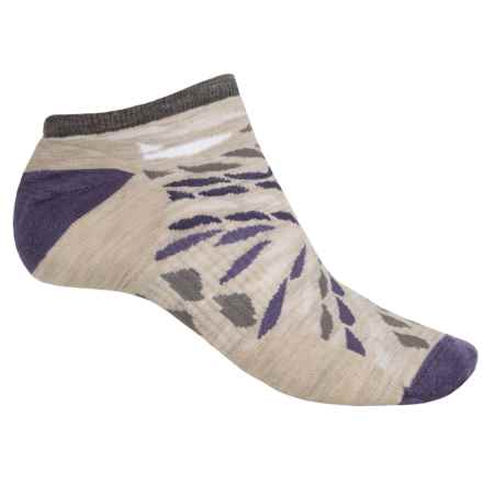 SmartWool Watercolor Washes Socks - Merino Wool, Below the Ankle (For Women) in Oatmeal Heather - Closeouts